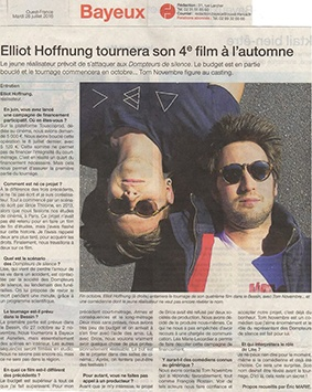 Elliot Hoffnung tournera son 4e film à l'automne